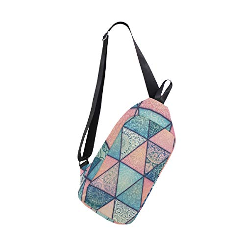 Sling Bag Vintage Mandalas Pattern Womens Chest Shoulder Backpacks Crossbody Tactical Bag Pack