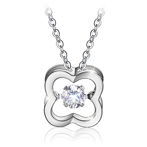 Menton Ezil Butterfly Sapphire Pendant Necklace Made with Swarovski Crystals Gifts for Women Girls (0.39 Ounces) (DZ Diamond)