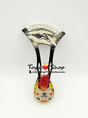usongs Japanese jewelry trade wind antiquity hair jewelry pearl hairpin Crane Flat fan inserted hairpin ()