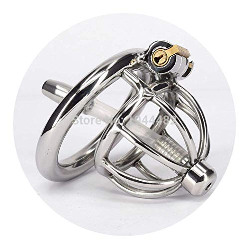 Daeti shirt Super Small Male Chastity Chastity Belt Stainless Steel Lock Fun Toys Short Cage with l Plug