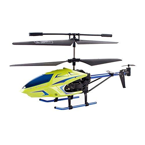 RCヘリコプター 3.5チャンネルRCヘリコプター 子供へのプレゼント 壊れにくい・初心者に適合 室内 ジャイロ搭載 - 青