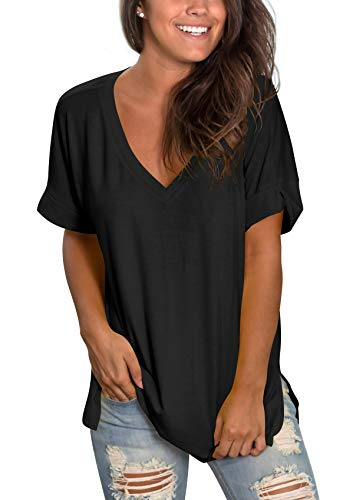 Women's Summer Flowy Tops Short Sleeve T