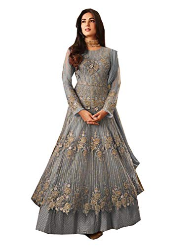 (STELLACOUTURE Fashion Anarkali Salwar Kameez Party Wear Maisha (Sky Blue, XS-36))