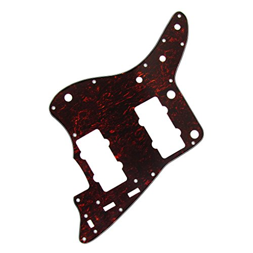 IKN Red Tortoise 4Ply Guitar Pickguard Scratch Plate for American Fender Style Vintage JM Guitar, with Screws by IKN (Image #1)
