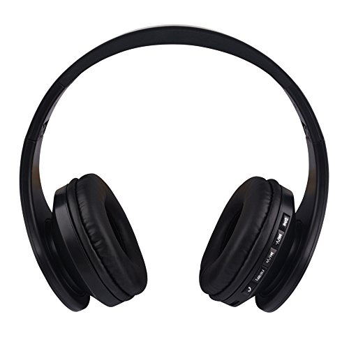 Cheap Gacho Stereo Wireless Headset, Foldable design, Soft Memory-Protein Earmuffs isolate outside noise greatly, Compatible with most electronic devices-Black