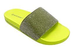 Women's Open Toe Rhinestone Flip Flop