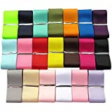 "Chenkou Craft Assorted Of 20 Yards Grosgrain Ribbon Total 20 Colors Mix Lots Bulk (1 1/2""(40mm))"