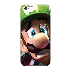 Tpu Case Skin Protector For Iphone 5c Luigi Being Scared With Nice Appearance