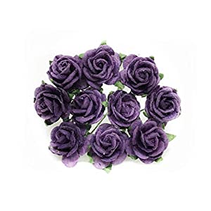 "1/2"" Plum Purple Mulberry Paper Flowers, Plum Paper Rose, Purple Flowers, Floral Crown Flowers, DIY Wedding, Wedding Decor, Wedding Table Flowers, Plum Wedding, Artificial Flowers, 50 Pieces 12"