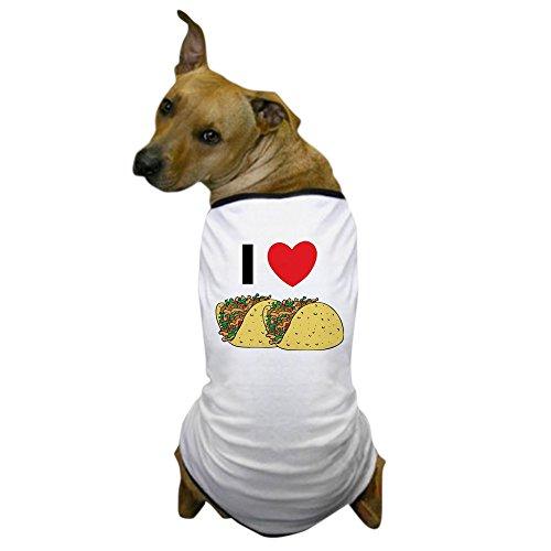 CafePress - I Love Tacos Dog T-Shirt - Dog T-Shirt, Pet Clothing, Funny Dog Costume ()