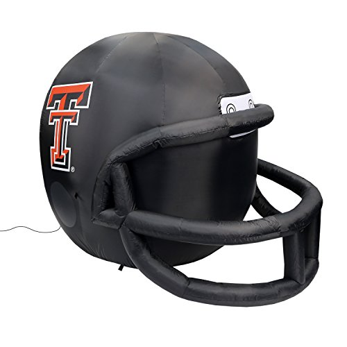 Tech Red Raiders 4 Light - Fabrique Innovations NCAA  Inflatable Lawn Helmet, Texas Tech Red Raiders