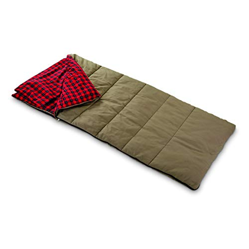 Guide Gear Canvas Hunter Sleeping Bag with Pillow Pocket, 40°F by Guide Gear