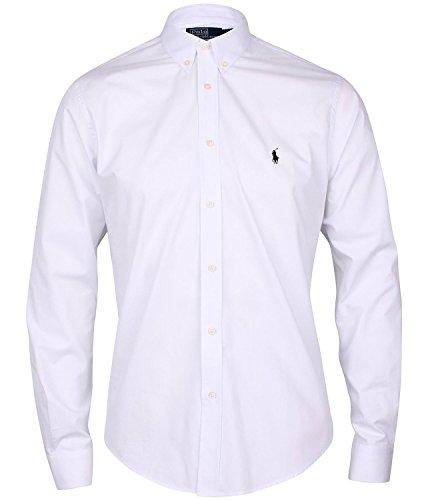 Ralph Lauren - Chemise RA9076955 blanche logo noir (XL)  Amazon.fr   Vêtements et accessoires 748a39263009