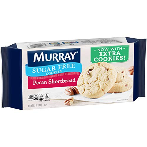 Murray Sugar Free Cookies, Pecan Shortbread, 8.8 oz Tray(Pack of 12) -