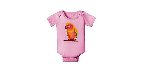 TooLoud Love Birds Flamingos Watercolor Baby Romper Bodysuit