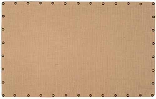 Linon Burlap Nailhead Corkboard, Large by Linon