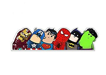 Superheld Auto Aufkleber Ironman Captain America Superman Spiderman Batman Hulk