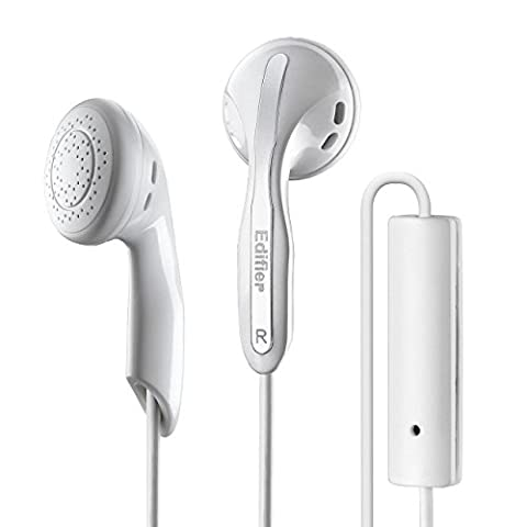 Edifier P180 Headphones with Mic and Inline Control - Stereo Earbud Earphone Earpod Headphone with Microphone and Remote For Apple iPhone Samsung HTC Nokia - (Durable Case For Ipod Classic)