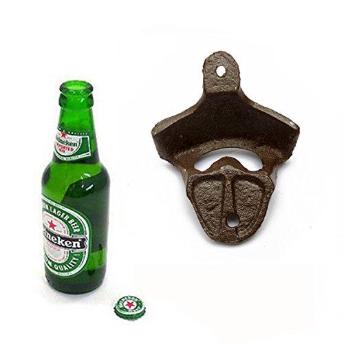Antique Iron Wall Mounted Bar Beer Bottle Opener Kitchen (Napa Kitchen Center)