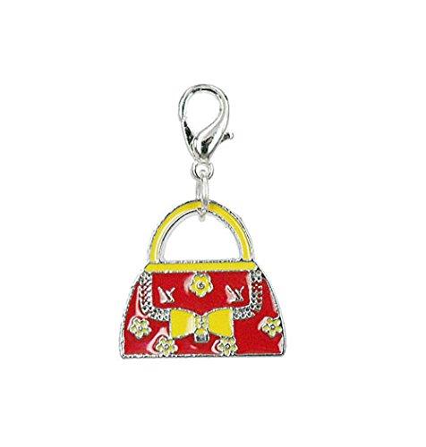 Charm sac à main rouge de l'acier Par Charming Charms. gratuite jusqu'à 30 £