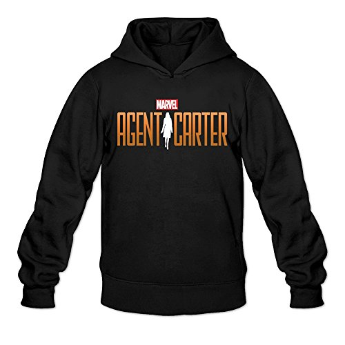 MARY Men's Agent Carter Classic Simpol Word Logo Hoodie Sweatshirt (Agent Smith Costume)