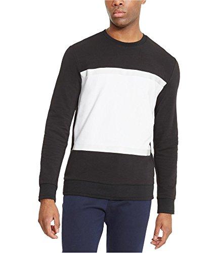 Kenneth Cole New York Color Block Crewneck Sweatshirt Black