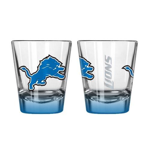 NFL Detroit Lions Elite Shot Glass, 2-ounce, 2-Pack