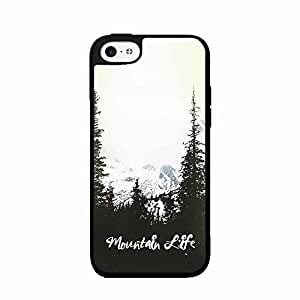 Mountain Life TPU RUBBER SILICONE Phone Case Back Cover iPhone 5c