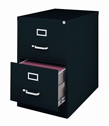Office Dimensions Commercial 2 Drawer Legal Width Vertical File, 26.5-Inch Deep, Black