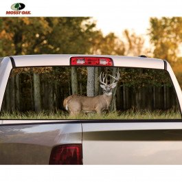 Mossy Oak Graphics Rear Window Whitetail Buck Hunting Sign, Large
