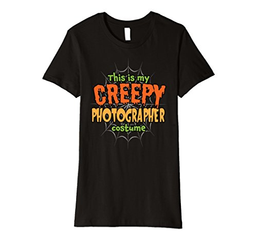 Womens Creepy Photographer Costume Premium Halloween T-Shirt XL
