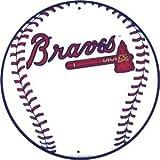 Atlanta Braves 12 inch Baseball Style Metal Circle Sign