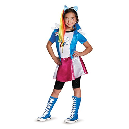Rainbow Dash Costumes (Rainbow Dash Equestria Deluxe Costume, Small (4-6x))
