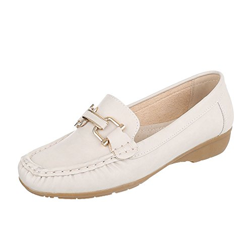 Ital-Design Women's Closed Cream lj6gtIpE52