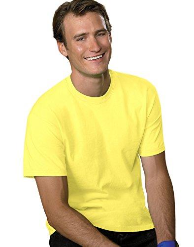 Hanes Men's TAGLESS ComfortSoft Crewneck T-Shirt, Yellow, XXX-Large