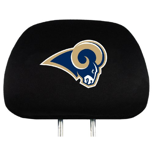 NFL Los Angeles Rams Head Rest Covers, - Mall Angeles The Los