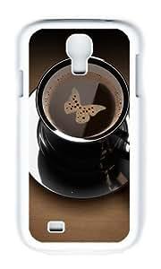 DAOJIE CASE Samsung S4 Case,Cover With Photo: Coffee Ying Yang For Samsung Galaxy S4 I9500 - PC White Hard Case wangjiang maoyi