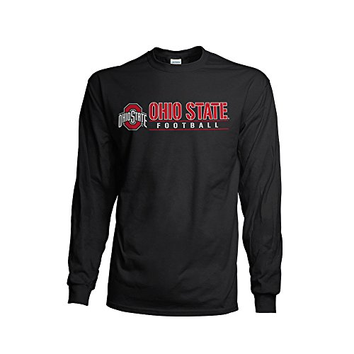 Elite Fan Shop NCAA Men's Ohio State Buckeyes Football Long Sleeve T-shirt Team Color Ohio State Buckeyes Red Small