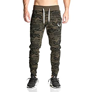EVERWORTH Men's Camo Casual Joggers Pants Gym Training Fitness Running Trousers