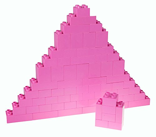 Strictly Briks Classic Big Briks Building Brick Set 100% Compatible with All Major Brands | 3 Large Block Sizes for Ages 3+ | Premium Pink Building Bricks | 84 Pieces