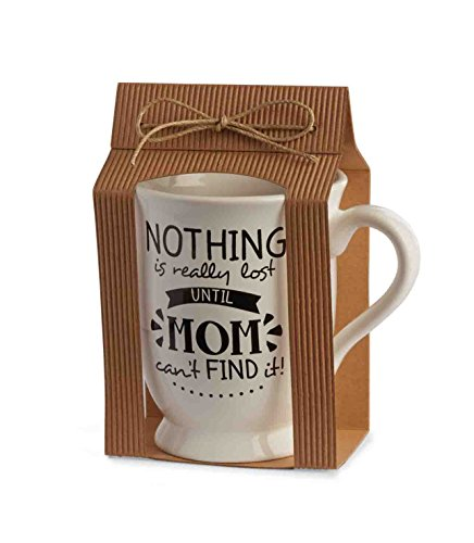 Mud Pie Mother's Day Fun Sayings Mom Mug - Mom Can't Find It (Mud Pie Tea Cup compare prices)
