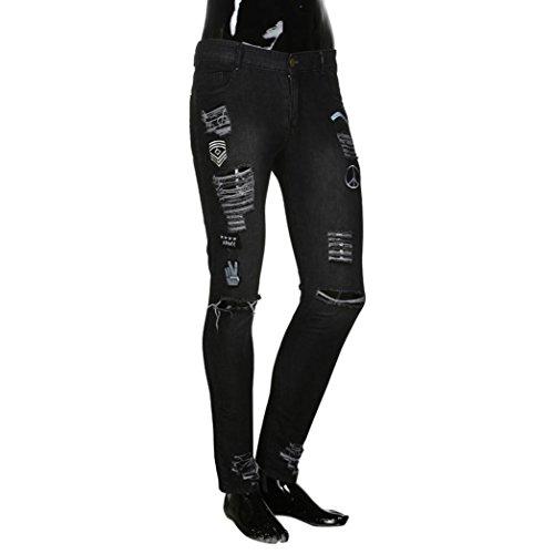 Zipper Fit Jogging Pantalone Nero Da Ginnastica Denim Leggeri Challenge Lino Jeans Uomo Slim Skinny pantaloni Pantaloni Estivi Sfilacciati Sportivi Cargo xP8xwSWqAH