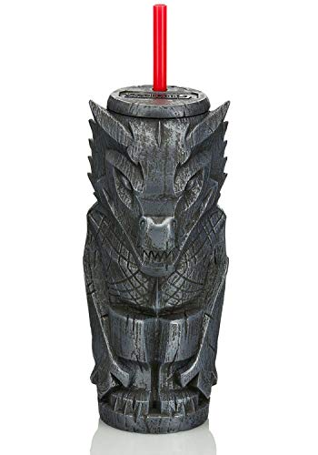 Geeki Tikis Game Of Thrones Drogon Tumbler | Official Game Of Thrones Collectible Plastic Tiki Style Cup With Lid | Holds 23 Ounces