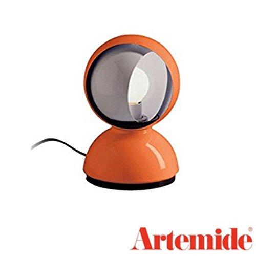 Artemide Eclisse Table Lamp Orange Bulb Included Design Vico Magistretti 1967