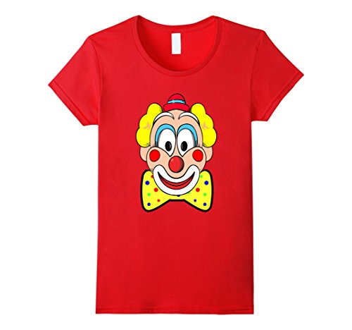 [Womens Cute Clown Shirt Large Graphics Multi color Bow Tie Medium Red] (Women's Clown Wig)