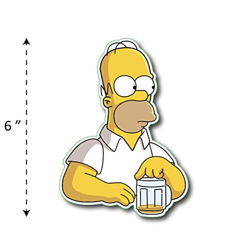 ((TK-209) Simpson | Homer Drink Beer - Waterproof Vinyl Sticker for Laptops Tablets Cars Motocycles Bicycle Skateboard Luggage Or Any Flat Surface (6