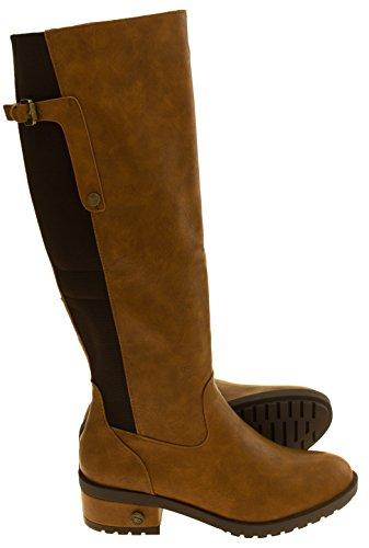 Footwear Studio Bottes Betsy Faux en Cuir Pour Femme Brown 2WTCE