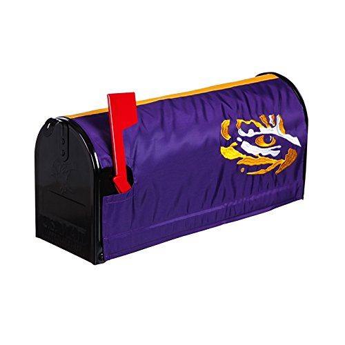Ashley Gifts Customizable Embroidered Applique Fabric NACC Mailbox Cover, Louisiana State University ()