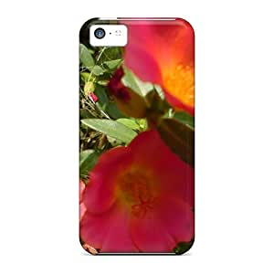 Waterdrop Snap-on 9o'clock Flower Case For Iphone 5c