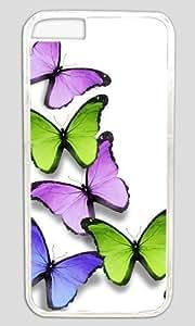 Abstract Butterflies DIY Hard Shell Transparent Best Designed iphone 6 Plus Case hjbrhga1544